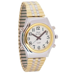 Mens Spanish Royal Tel-Time Bi-Color Talking Watch- Expansion Band Price: $49.95