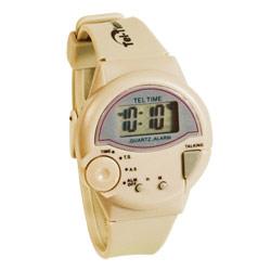 Tel-Time IV Talking Watch - English - Unisex- Tan