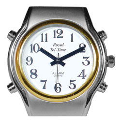 Mens Spanish Royal Tel-Time Bi-Color Talking Watch-Leather Band Price: $49.95