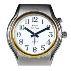 Mens Spanish Royal Tel-Time One Button Talking Watch- Expansion Band Price: $52.95