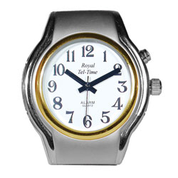 Ladies One Button Spanish Talking Watch-Leather
