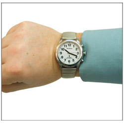 Talking Radio-Controlled Stainless Steel Watch-Expansion
