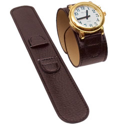 Reizen Black Leather Wrap Around Watch Band-Ladies