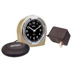 Reizen Braille Quartz Alarm Clock with Bed Shaker Combo