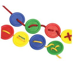 Lacing Buttons Tactile- Braille Activity Set- 140pc