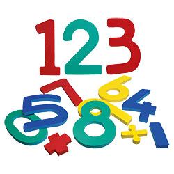 Jumbo Numbers  0 - 9 With Math Symbols Price: $14.95