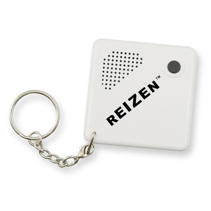 Reizen Talking Keychain Alarm Clock - White
