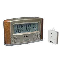 Reizen Atomic Talking Clock with Indoor-Outdoor Thermometer