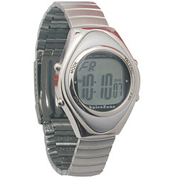 Oval Metal 4-Alarm Talking Watch - Spanish