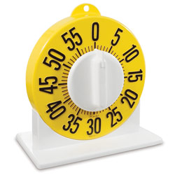 Tactile Low Vision Long Ring Timer with Stand