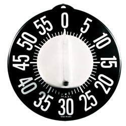 Tactile Low Vision Timer-Black Dial, White Numbers Price: $14.95