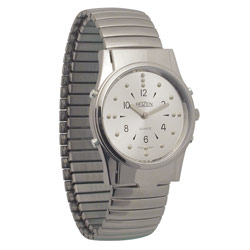 Mens Chrome Braille and Talking Watch - Exp Band Price: $89.95
