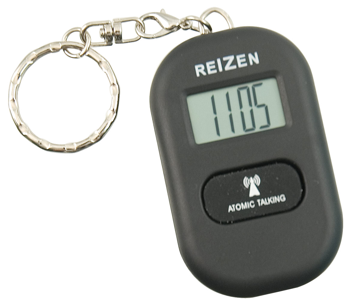 Reizen Talking Atomic Watch Keychain- Black
