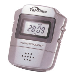 Tel-Time Talking Calorie Counting Pedometer Price: $12.95