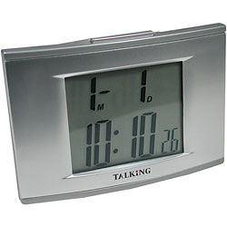 Talking 4-Alarm Clock with EL-Backlight Price: $19.95