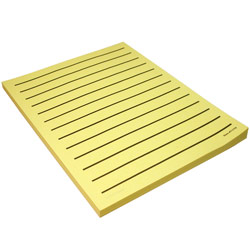 Low Vision Yellow Paper Black Bold Lines