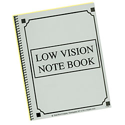 Low Vision Notebook - Bold Lines - Yellow Paper - click to view larger image