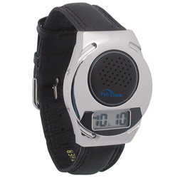Talking Watch with Leather Band - Unisex Price: $14.95