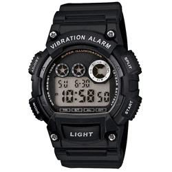 Designer Sports Vibration Watch-Flash Alert-Black Price: $34.95
