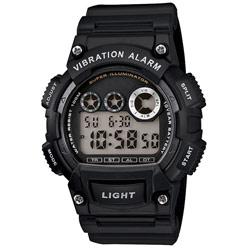 Designer Sports Vibration Watch-Flash Alert-Black