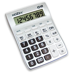 Reizen 8-Digit Talking Calculator with Alarm