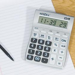 Reizen 8-Digit Talking Calculator with Alarm