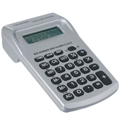 Big Number Pocket Talking Calculator with Clock