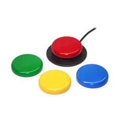 AbleNet Jelly Bean Twist - Accessible Switch - Set of 4 Colors