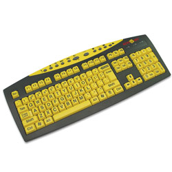 Keys-U-See Keyboard - Yellow Keys with Black Print Price: $24.95