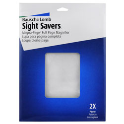 Bausch and Lomb Sight Savers Magna Page 2x Full Page Magnifier