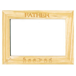 Custom-Made Pinewood Picture Frames - Father