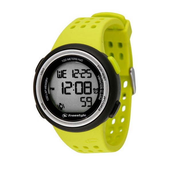 Freestyle FX Trainer Vibrating 100-Lap Digital Sports Watch - Yellow - click to view larger image