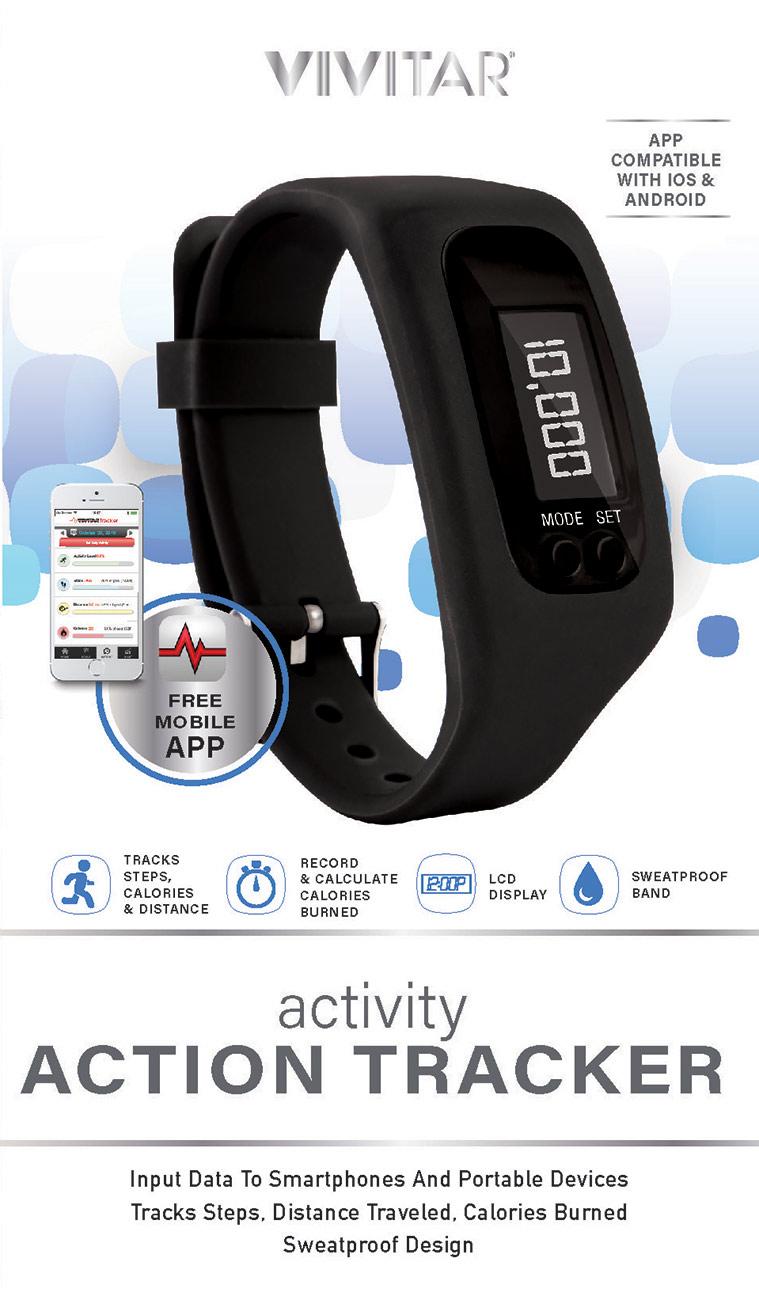 Vivitar Action Tracker Watch- Blue