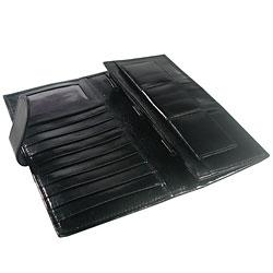 Leather Money Organizer-Wallet- Black