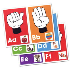 Alphabet: Signs, Letters, Sounds Learning Cards Price: $11.99