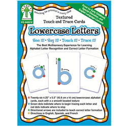 Textured Touch and Trace Cards- Lowercase Letters