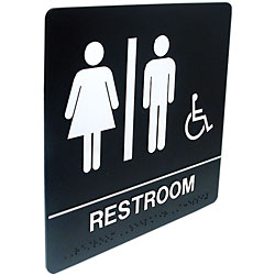 Tactile Braille Signs - Rest Room