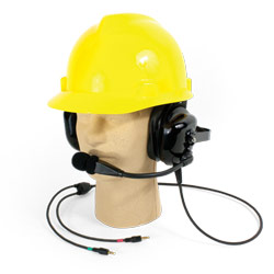 Dual Muff Hard Hat Headset with Microphone