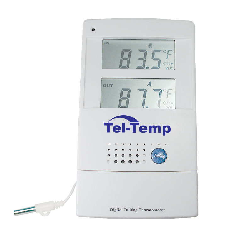 Tel-Temp Talking Indoor/Outdoor Thermometer Price: $16.95