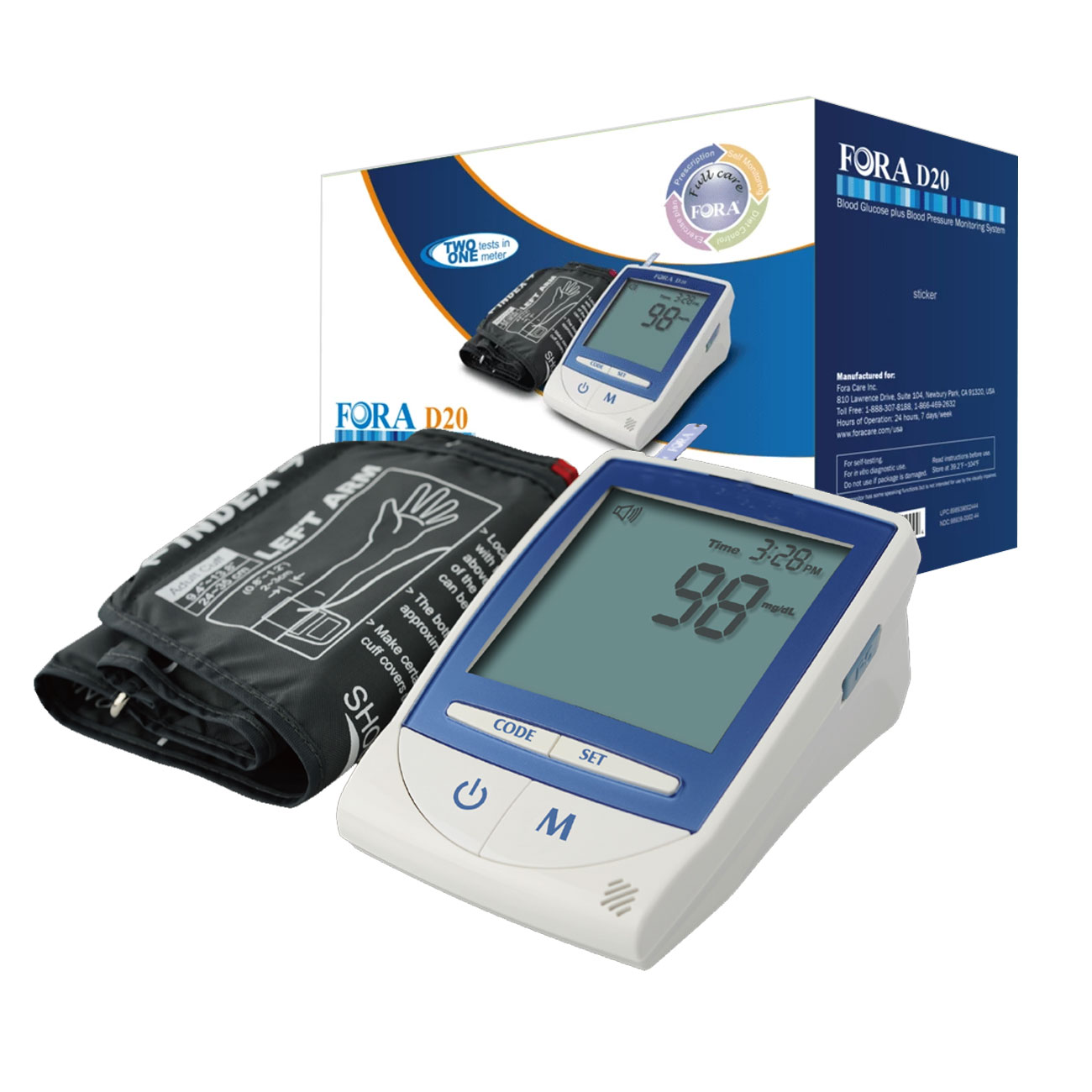 D20 2 in 1 TALKING Blood Glucose and Blood Pressure Monitor