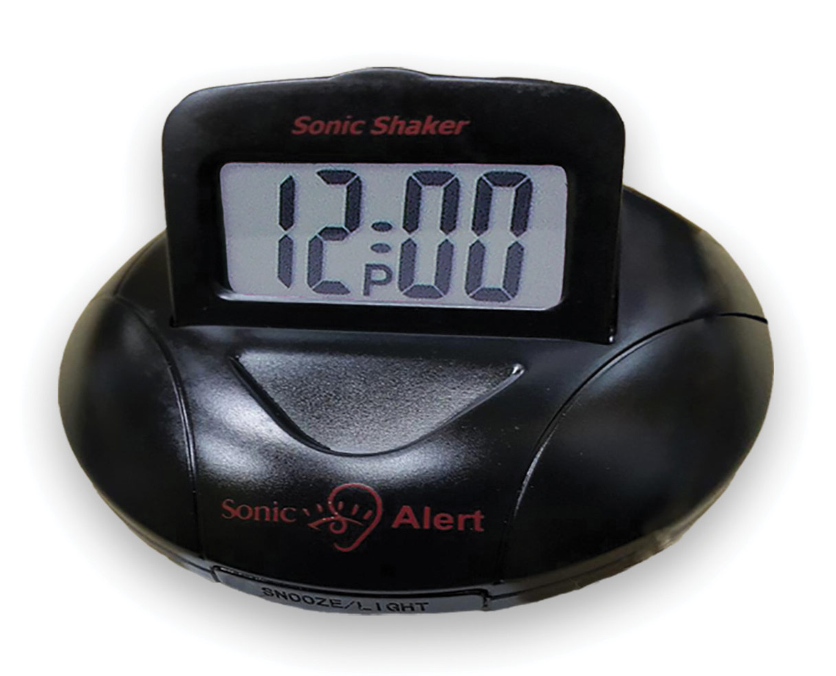 Sonic Alert Sonic Shaker Black Travel Alarm Clock SBP100C - click to view larger image