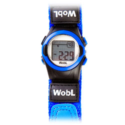WobL 8-Alarm Vibrating Reminder Watch- Blue