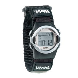 WobL 8-Alarm Vibrating Reminder Watch- Black