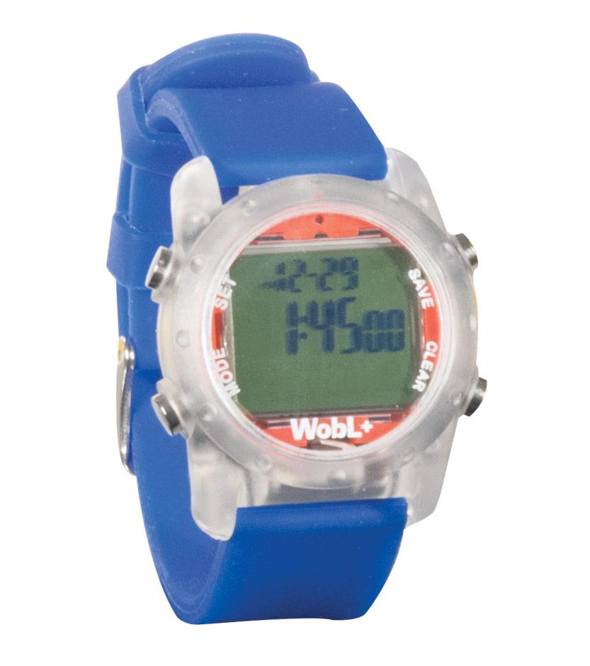 WobL+ 9-Alarm Vibrating Waterproof Reminder Watch- Blue