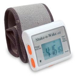 Shake-n-Wake ZZZ Vibrating Alarm Clock Watch - click to view larger image