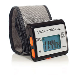 Shake-n-Wake ZZZ Vibrating Alarm Clock Watch - Black Price: $24.95