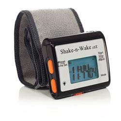 Shake-n-Wake ZZZ Vibrating Alarm Clock Watch- Black