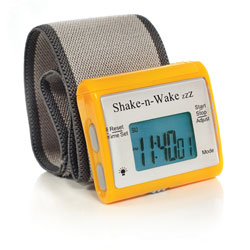 Shake-n-Wake ZZZ Vibrating Alarm Clock Watch - Orange