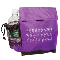 Insulated Lunch Bag with ASL Alphabet: Purple Price: $12.95