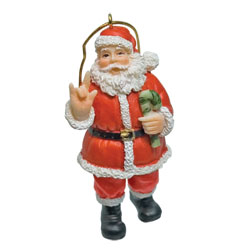 Signing Santa ILY Holiday Ornament Price: $11.65
